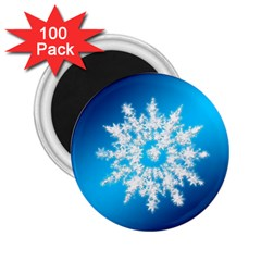 Background Christmas Star 2 25  Magnets (100 Pack)  by Nexatart