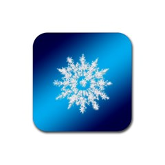 Background Christmas Star Rubber Square Coaster (4 Pack)  by Nexatart