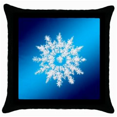 Background Christmas Star Throw Pillow Case (black)