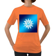 Background Christmas Star Women s Dark T Shirt