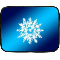 Background Christmas Star Fleece Blanket (mini)