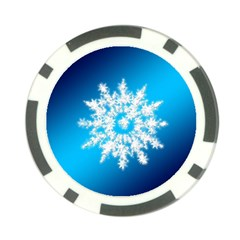 Background Christmas Star Poker Chip Card Guard (10 Pack)