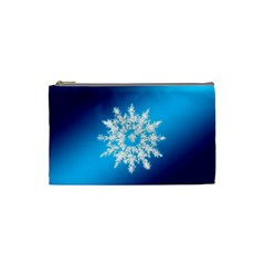 Background Christmas Star Cosmetic Bag (small)  by Nexatart