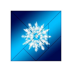Background Christmas Star Acrylic Tangram Puzzle (4  X 4 )