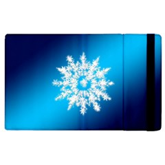Background Christmas Star Apple Ipad 2 Flip Case by Nexatart