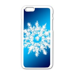 Background Christmas Star Apple Iphone 6/6s White Enamel Case by Nexatart
