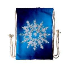 Background Christmas Star Drawstring Bag (small)