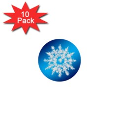 Background Christmas Star 1  Mini Buttons (10 Pack)