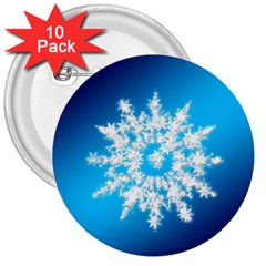 Background Christmas Star 3  Buttons (10 Pack)