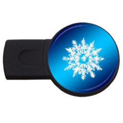 Background Christmas Star Usb Flash Drive Round (2 Gb)