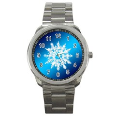 Background Christmas Star Sport Metal Watch