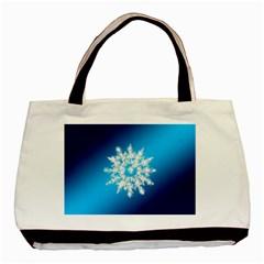 Background Christmas Star Basic Tote Bag