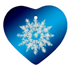 Background Christmas Star Heart Ornament (two Sides)