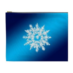 Background Christmas Star Cosmetic Bag (xl) by Nexatart