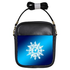 Background Christmas Star Girls Sling Bags