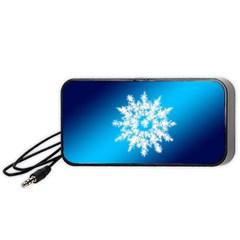 Background Christmas Star Portable Speaker (black) by Nexatart