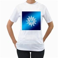 Background Christmas Star Women s T Shirt (white)