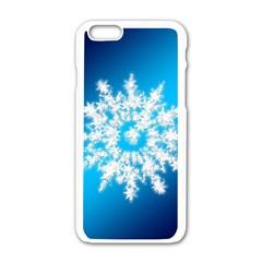 Background Christmas Star Apple Iphone 6/6s White Enamel Case