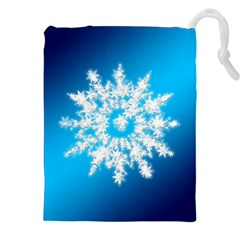 Background Christmas Star Drawstring Pouches (xxl)