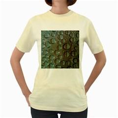 Drop Of Water Condensation Fractal Women s Yellow T Shirt