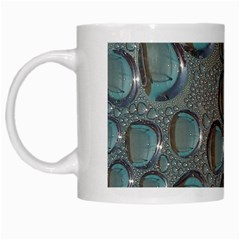 Drop Of Water Condensation Fractal White Mugs by Nexatart