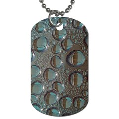 Drop Of Water Condensation Fractal Dog Tag (two Sides) by Nexatart