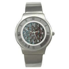 Drop Of Water Condensation Fractal Stainless Steel Watch by Nexatart