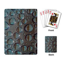 Drop Of Water Condensation Fractal Playing Card by Nexatart