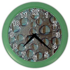 Drop Of Water Condensation Fractal Color Wall Clocks by Nexatart