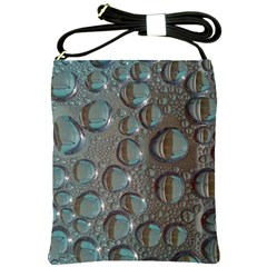 Drop Of Water Condensation Fractal Shoulder Sling Bags by Nexatart