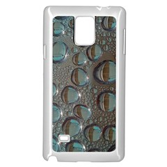 Drop Of Water Condensation Fractal Samsung Galaxy Note 4 Case (white) by Nexatart