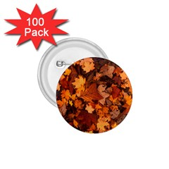 Fall Foliage Autumn Leaves October 1 75  Buttons (100 Pack)