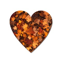 Fall Foliage Autumn Leaves October Heart Magnet