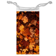 Fall Foliage Autumn Leaves October Jewelry Bag