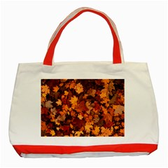 Fall Foliage Autumn Leaves October Classic Tote Bag (red) by Nexatart