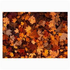 Fall Foliage Autumn Leaves October Large Glasses Cloth (2 Side)