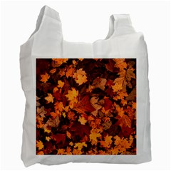 Fall Foliage Autumn Leaves October Recycle Bag (two Side)