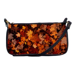 Fall Foliage Autumn Leaves October Shoulder Clutch Bags by Nexatart