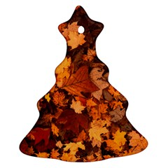 Fall Foliage Autumn Leaves October Ornament (christmas Tree)