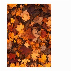 Fall Foliage Autumn Leaves October Small Garden Flag (two Sides) by Nexatart