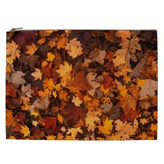 Fall Foliage Autumn Leaves October Cosmetic Bag (xxl)  by Nexatart