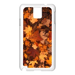 Fall Foliage Autumn Leaves October Samsung Galaxy Note 3 N9005 Case (white) by Nexatart