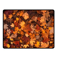 Fall Foliage Autumn Leaves October Double Sided Fleece Blanket (small)  by Nexatart