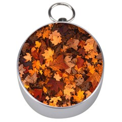 Fall Foliage Autumn Leaves October Silver Compasses by Nexatart