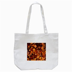 Fall Foliage Autumn Leaves October Tote Bag (white)