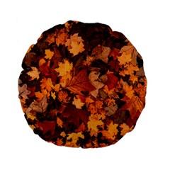 Fall Foliage Autumn Leaves October Standard 15  Premium Flano Round Cushions by Nexatart