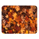 Fall Foliage Autumn Leaves October Double Sided Flano Blanket (Large)  80 x60 Blanket Front
