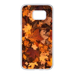 Fall Foliage Autumn Leaves October Samsung Galaxy S7 Edge White Seamless Case
