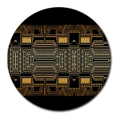 Board Digitization Circuits Round Mousepads by Nexatart