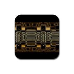 Board Digitization Circuits Rubber Coaster (square)